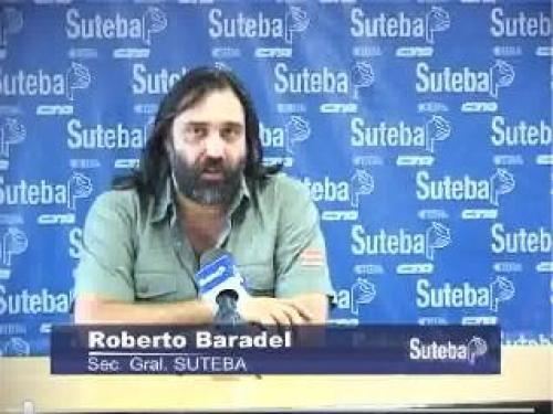 Roberto Baradel fue nuevamente amenazado desde cuevas cercanas al PRO.