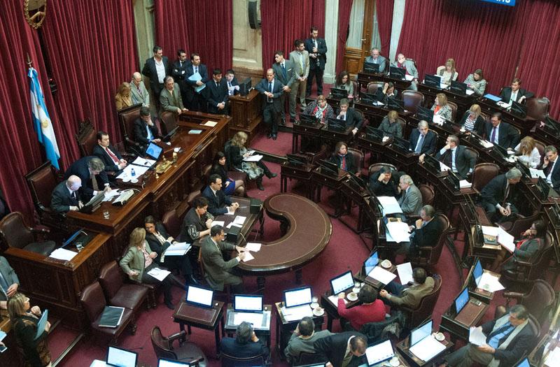 zzzznacp2 NOTICIAS ARGENTINAS BAIRES, JULIO 7: Vista del recinto del Senado de la Nacion esta tarde en el Congreso Nacional. FOTO: JUAN VARGAS-plzzzz