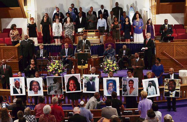 Misa homenaje a las víctimas de Charleston.