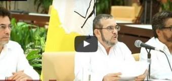 REGIÒN – Colombia | Palabras del Comandante Timoléon Jiménez de las FARC tras el acuerdo firmado en La Habana.