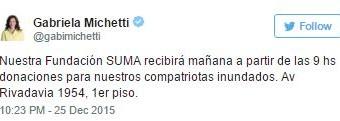 INUNDACIONES – Régimen | Michetti absorbe donaciones para su fundación privada.