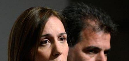 María Vidal ante otra crisis. Dejó escapar a los narcos que ayudaron en su campaña. De fondo Cristian Ritondo.