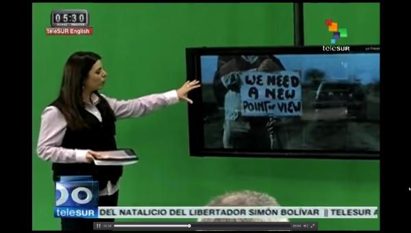 La cadena de cable Cablevisión, oficialista y de derecha, saca de su grilla a Telesur. Al no haber ley de medios hacen lo que quieren.