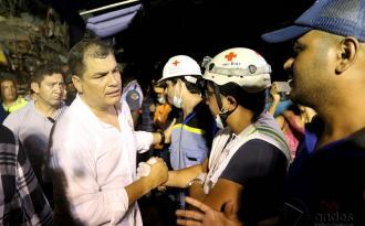El Presidente Rafael Correa admite que el sismo generará un fuerte impacto en el PBI ecuatoriado. FOTO: ANDES