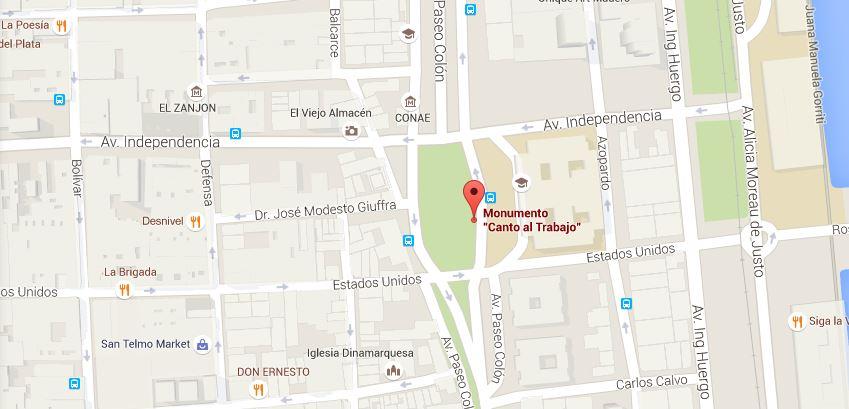La concentración es a las 15 hs del 29 de abril en el Monumento Canto al Trabajo, en Lima e Independencia.