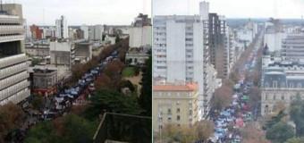 BUENOS AIRES – Régimen   Multitudinaria marcha en La Plata pidiendo la renuncia de Vidal.
