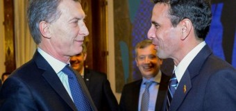 REGIÓN – Régimen   Macri recibió al golpista venezolano Hernán Capriles.