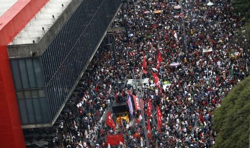 La resistencia al régimen golpista tiene sus primeras víctimas en Brasil. FOTO: ANDES