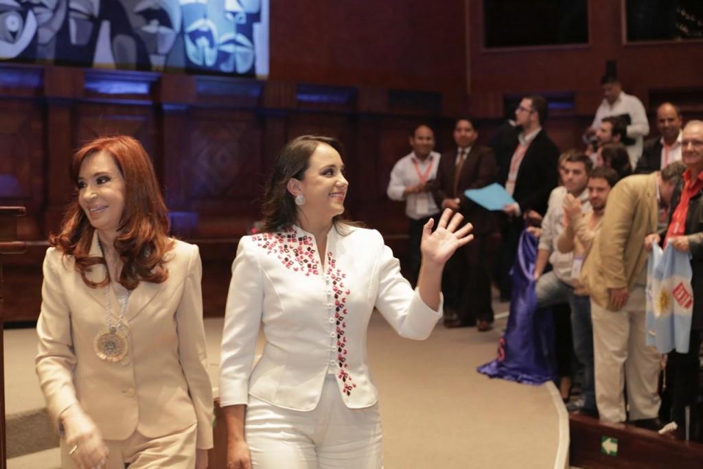Cristina Fernández en la Asamblea Nacional. FOTO: CFK