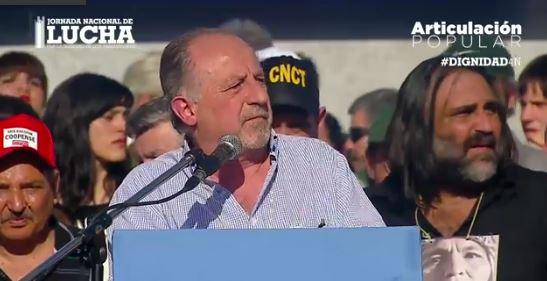 Hugo Yasky, Secretario General de la CTA de los Trabajadores.