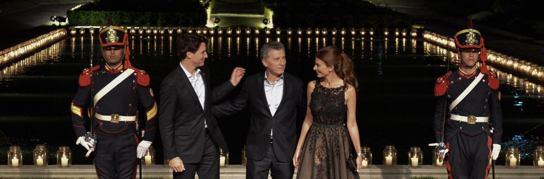 Recepción oficial al Primer Ministro de Canadá en Buenos Aires.