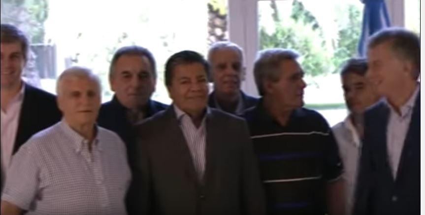 Como si no hubiera ocurrido nada Caló, Martínez, Smidt, Acuña y Macri en Olivos.