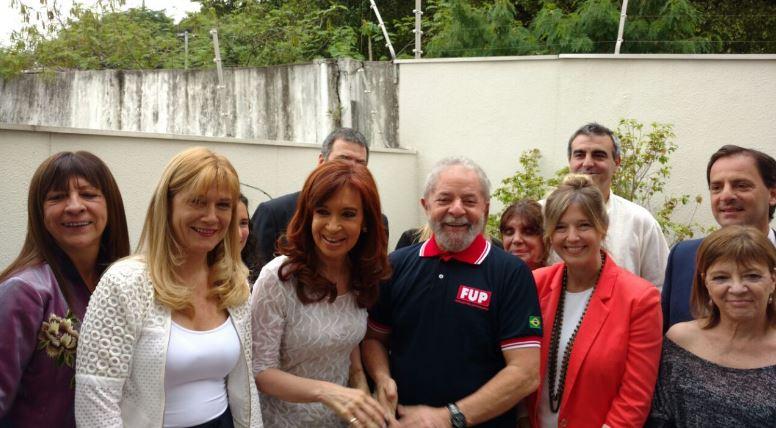 Diana Conti, Verónica Magario, Cristina Fernández y Lula.