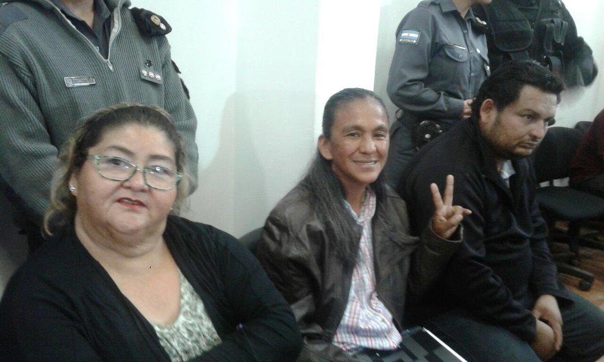 Milagro Sala en el primer día de audiencia del juicio oral y público al que la somete el régimen jujeño.