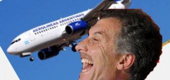 TRABAJADORES – Régimen | Macri despedirá al 25 % de los empleados de Aerolíneas Argentinas.