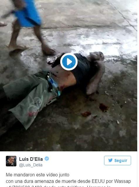 Crudas imágenes de un asesinato son ls que recibe Luis D´Elía en su celular. El Presidente Mauricio Macri y su gabinete permanecen en silencio.