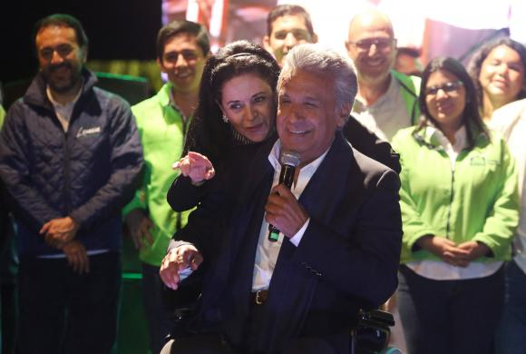 Lenin Moreno ganó ampliamente la primera vuelta, pero no le alcanzó para evitar el ballottage.