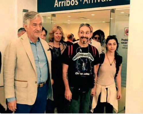 Alberto Rodríguez, Gobernador de San Luis con los refugiados