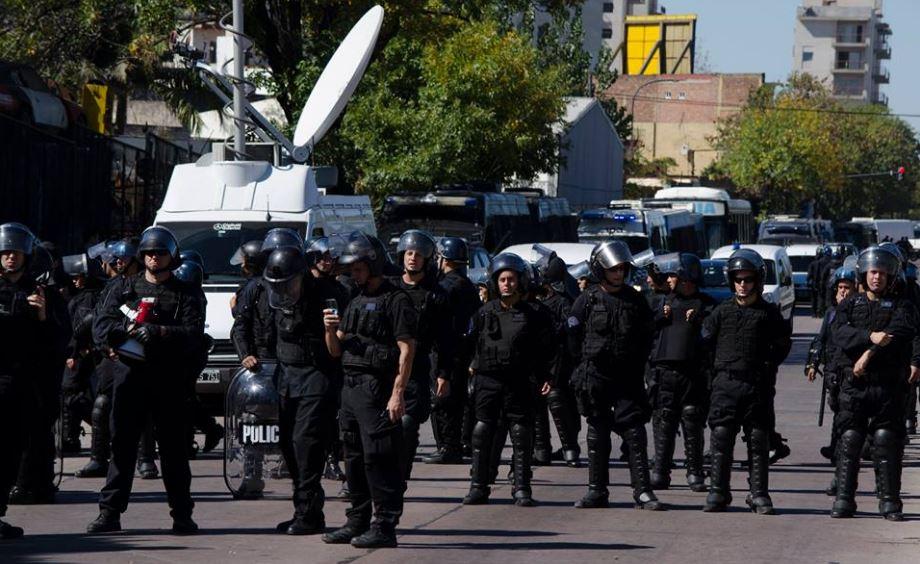 Desproporcionado dspliegue policial y de Gendarmería. FOTO: AGR