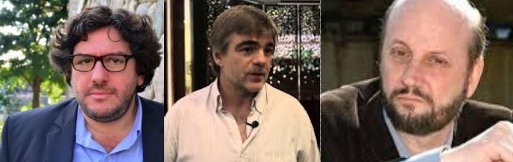 Pablo Avelluto,  Alejandro Cacetta y Juan José Campanella. Peleas entre los derechistas por los fondos del INCAA.
