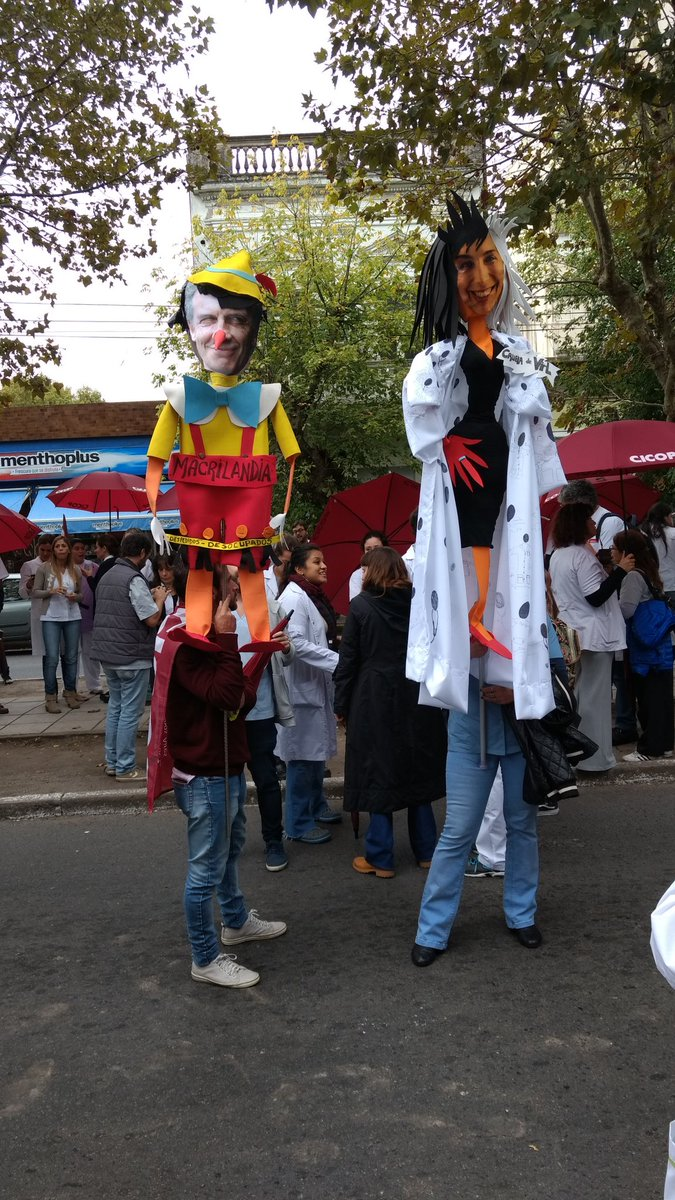 Arlequines de Mauricio Macri y María Vidal. FOTO: CICOP