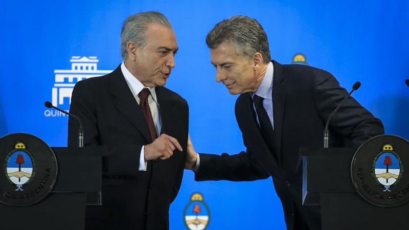 Temer podría caer en las próximas horas. La economía argentina se derrumba por la estrecha relación y dependencia.