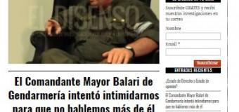 DESAPARECIDO – Régimen | Un jefe de la Gendarmería macrista amenazó al medio de comunicación El Disenso.