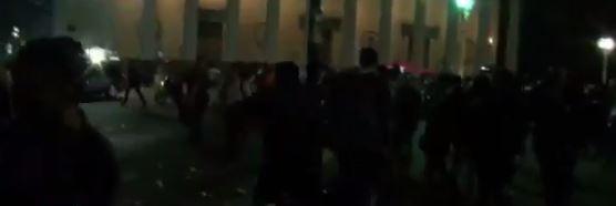 La policía macrista se llevó seis detenidos.