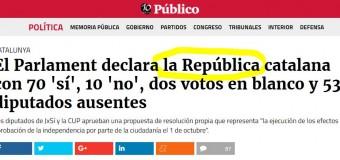 MUNDO – Catalunya | El Parlament declaró la Independencia de Catalunya.