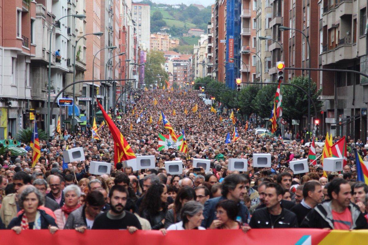 Los cinco millones de catalanes están compenetrados en su independencia.
