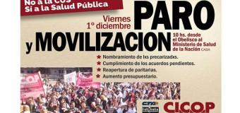 BUENOS AIRES – Régimen | A pesar del contundente paro en la salud bonaerense María Vidal sigue sin atenderlos.