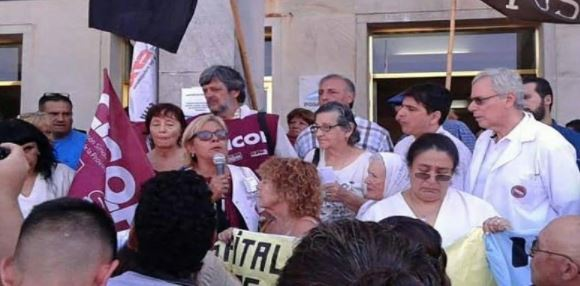 Los trabajadores de la salud de Buenos Aires hacen un paro por 24 horas. FOTO: CICOP