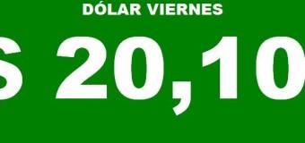 ECONOMÍA – Régimen | En la city se vende el dólar del viernes a $ 20,10.