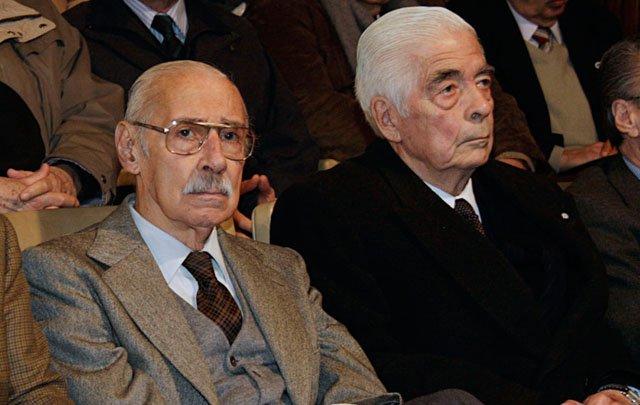 Los asesinos Jorge Videla y Luciano Menéndez. YHa están muertos.