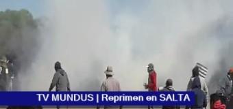 SALTA – Régimen | La Infantería de Urtubey reprime a pueblo originario y detiene a dos dirigentes de La Curvita.