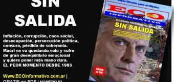 Salió el nº 83 de la Revista ECO INFORMATIVO | Macri sin salida