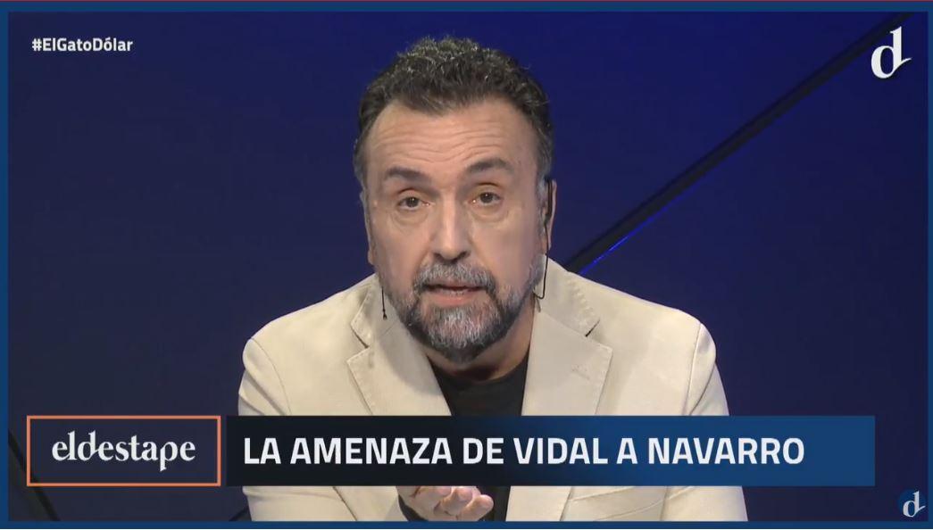 Roberto Navarro fue amenazado en directo por el entorno de Vidal.