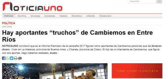 CORRUPCIÓN – Régimen | Aparecieron aportantes truchos del PRO también en Entre Ríos.