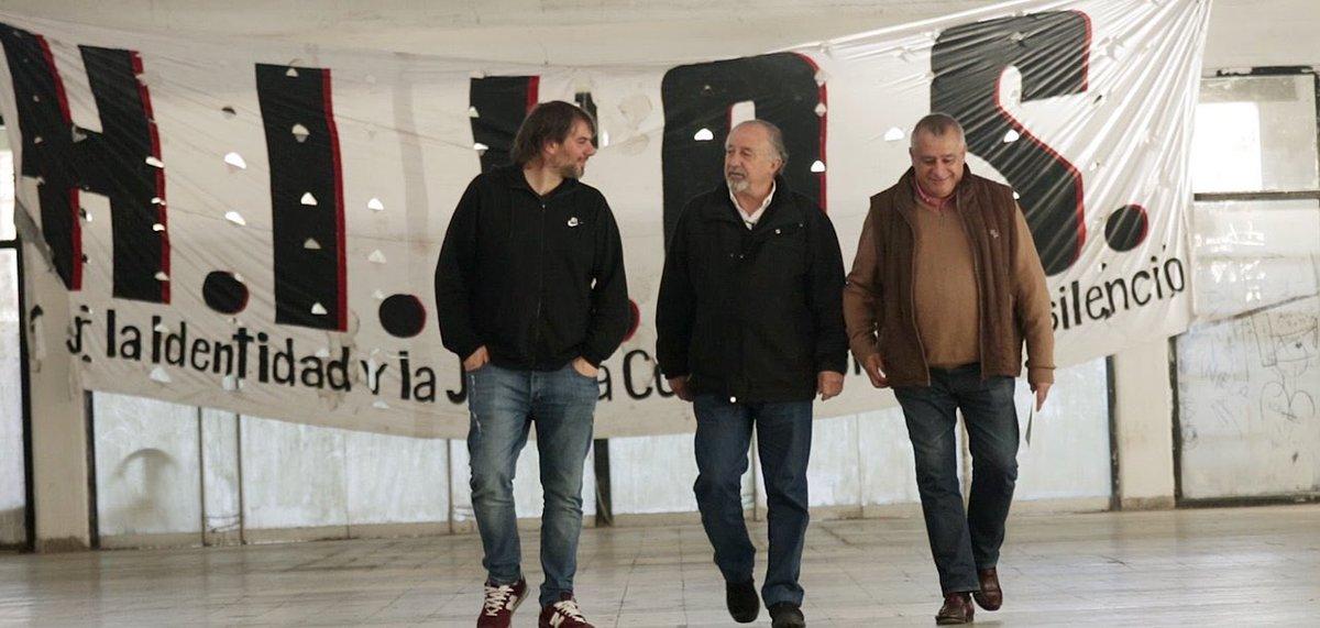 Yasky (centro), Catalano (izquierda) y Llanos (derecha), la fórmula ganadora en los comicios internos de la CTA de los Trabajadores.