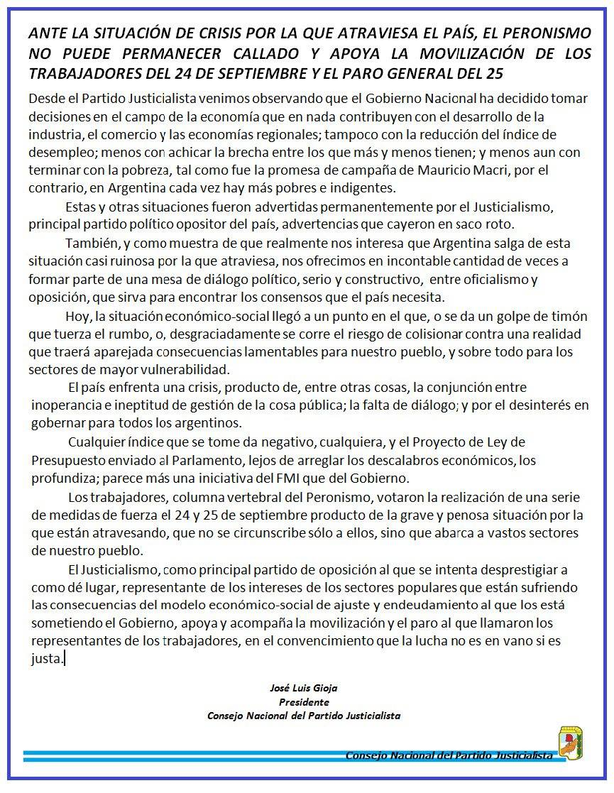 Justicialismo_Documento_PARO_180925