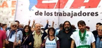 TRABAJADORES – Régimen   Mutitudinario acto de las CTA y los movimientos sociales en contra de las políticas antipopulares de Macri.