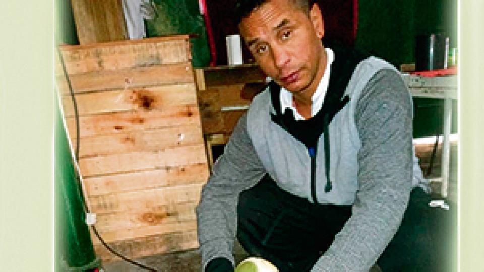 Andrés Vieira, de 36 años, víctima del apriete de la Policía macrista de la CABA.