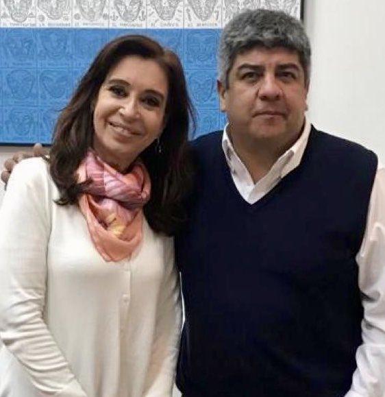 Pablo Moyano habló con Cristina Fernández para frenar el Presupuesto 2019.