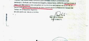 TRABAJADORES – Régimen | Schmid renunció al triunvirato de la CGT.