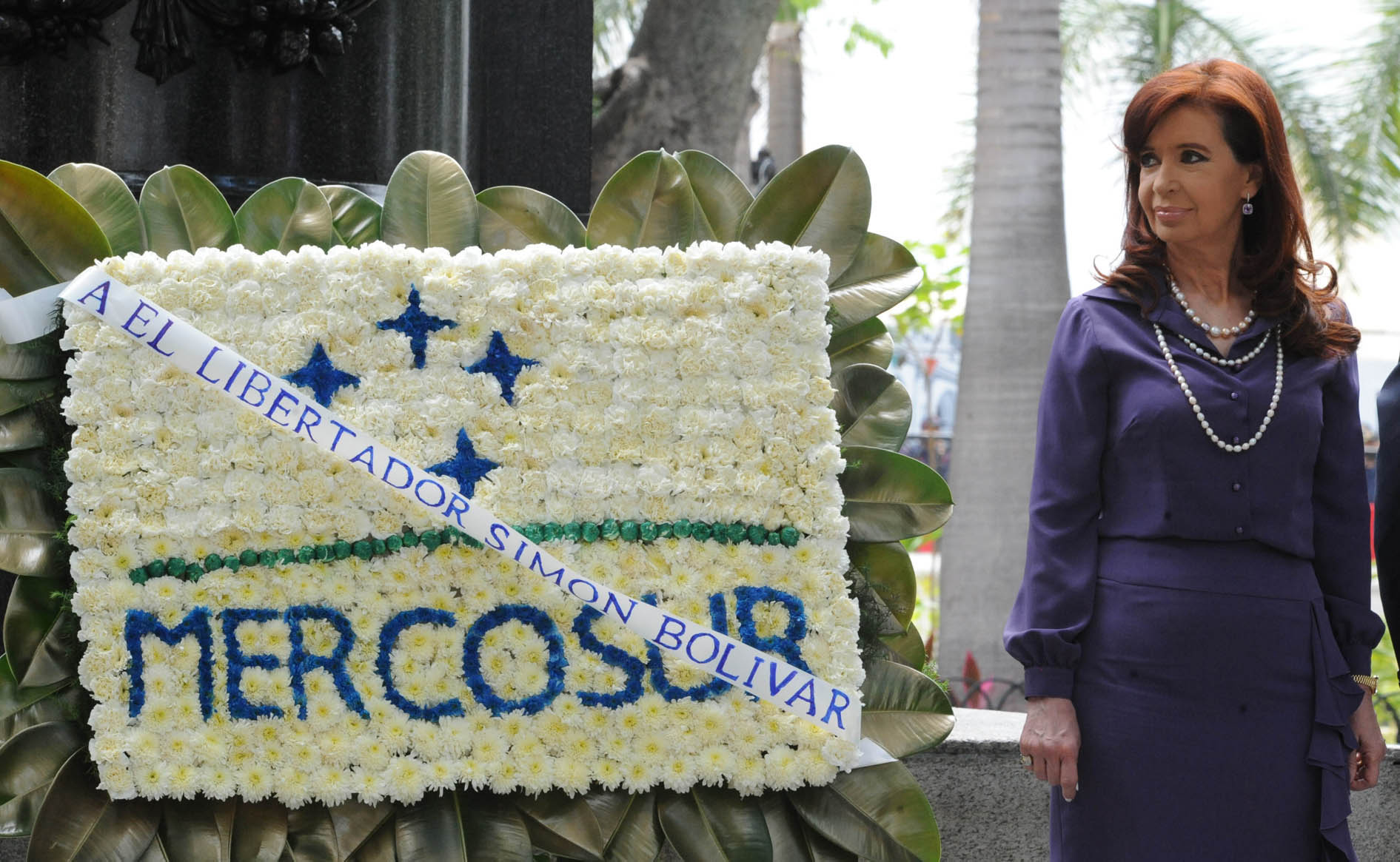 MERCOSUR_2014_CARACAS_CasaRosada_05_CFK_BanderaMercosur