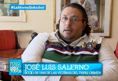 El ex policía Salerno  probablemente ligado al narcotráfico haciendo una operación mediática con el showman Jorge Lanata. El escenario es la casa de la diputada derechista Elisa Carrió.