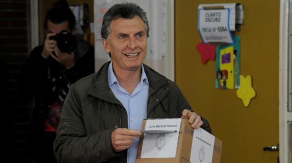 Macri ya votó y no quiso hablar de política.