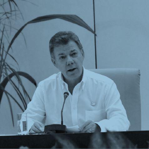 El Presidente Juan Manuel Santos tuvo que superar la resistencia de sectores ultraderechistas de su propio partido.