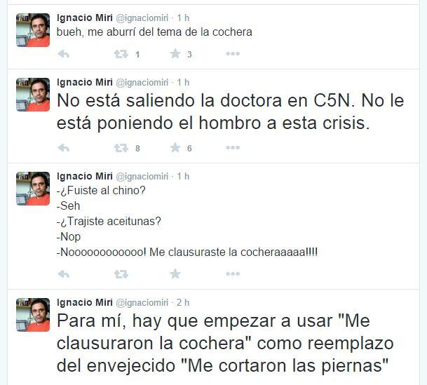 El periodista de Clarín se burló de la clausura a C5N.