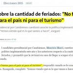 Incluso el diario de derecha La Naciòn se sorprendiò con la idea de Macri.